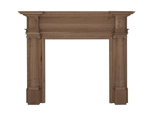 Ashleigh Oak Wooden Fireplace Surround | Carron