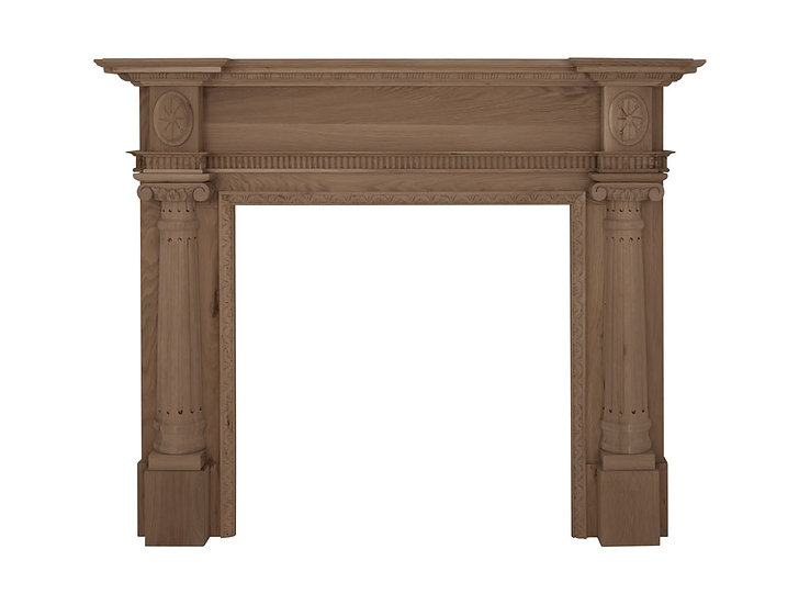 Ashleigh Wooden Fireplace Surround unfinished solid oak | Carron