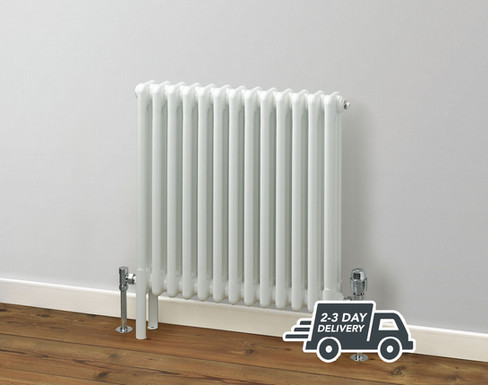 Fitzrovia 3 Column Steel Radiator Horizontal | White | Foundry