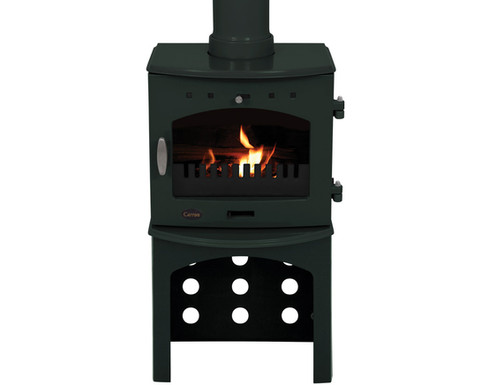 Carron 4.7KW Stove Log Store | Green Enamel