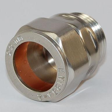 22mm Compression Adaptor - Brushed Satin Nickel