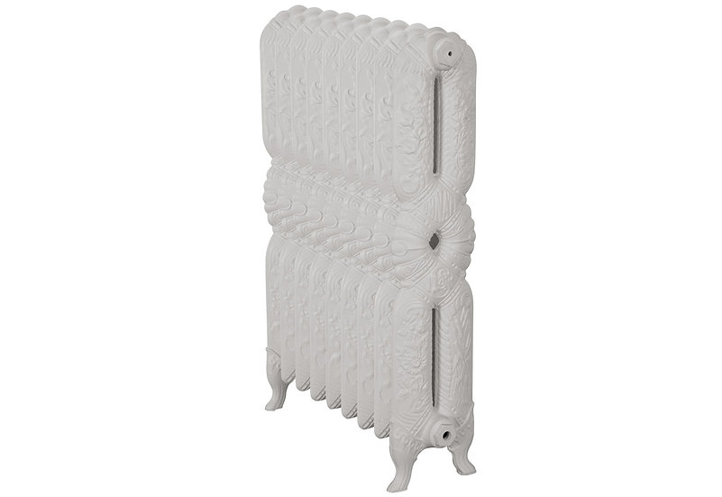 Ornate 940mm, 2 Column, 9 Sections | Pale Cream | Carron