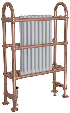 Horse Steel Copper Towel Rail with Steel White Radiator | Carron