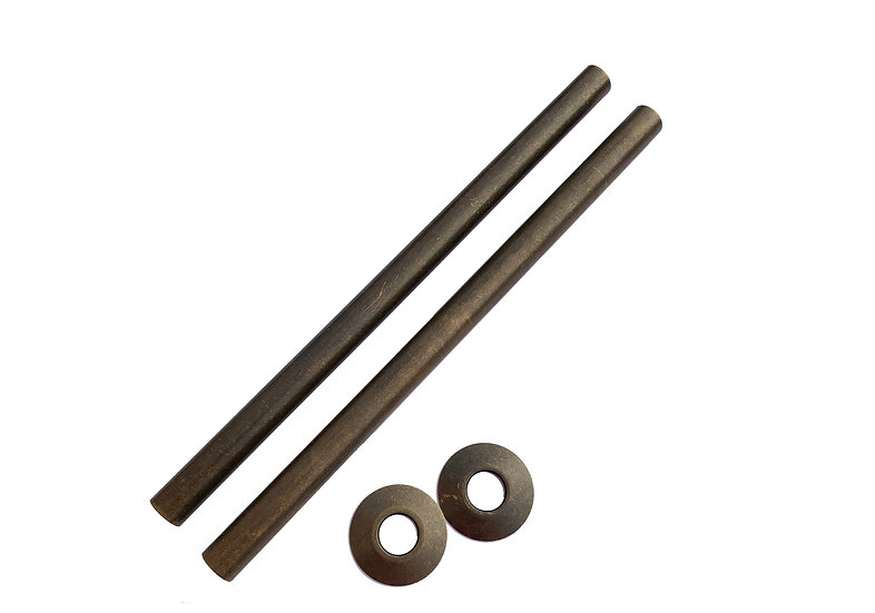 300mm Arroll Antique Copper Pipe Covers Shrouds Sleeves | Foundry Cast Iron Radiators and Baths