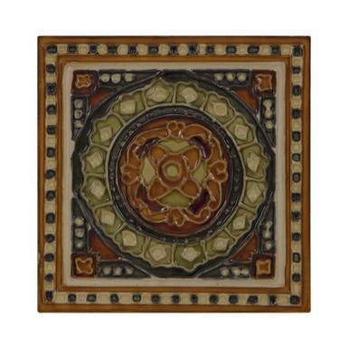 Set of 10 Orange and Green Tiles | Carron