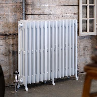 The Edwardian 4 Column Aluminium Radiator   750mm Tall   White   Arroll