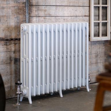 The Edwardian 4 Column Aluminium Radiator | 750mm Tall | White | Arroll