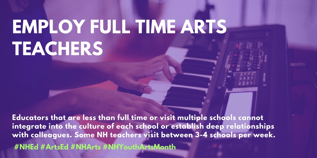 Employ Full Time Arts TEachers