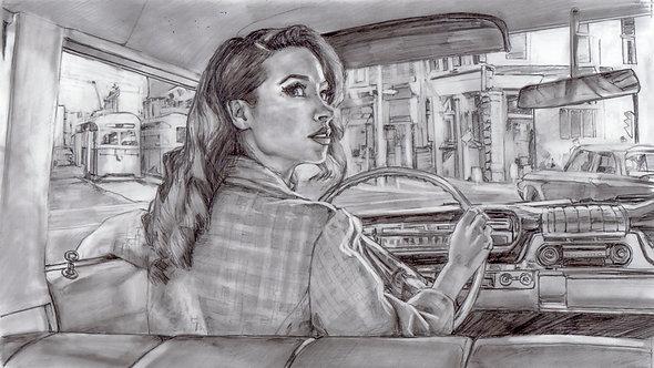 "study drawing for ""Blindspot"""