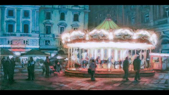 """""""Florence Carousel"""", print on panel"""