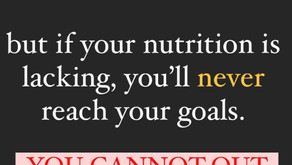 You Can't Out-Perform Inadequate Nutrition