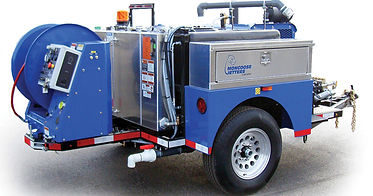 A photo of a Maui Hydro jetting drain cleaning machine, ready for work in Kaanapali.