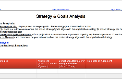 Strategic Analysis Template