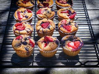 Muffins met rood fruit