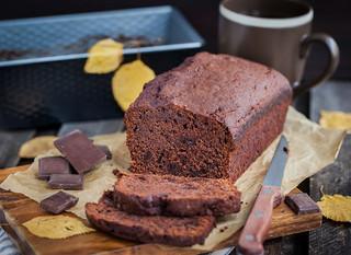 Chocoladebrood met banaan (vegan)