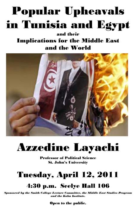 Tunisia- Egypt Lecture at Smith College