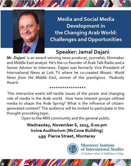 Jamal Dajani Lecture at MIIS