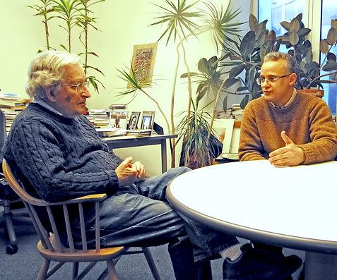 Kader and Noam Chomsky at MIT 2011.jpg
