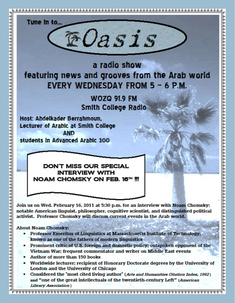 Oasis Radio Show Flyer