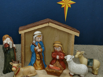 Simple Nativity Set Wallpaper