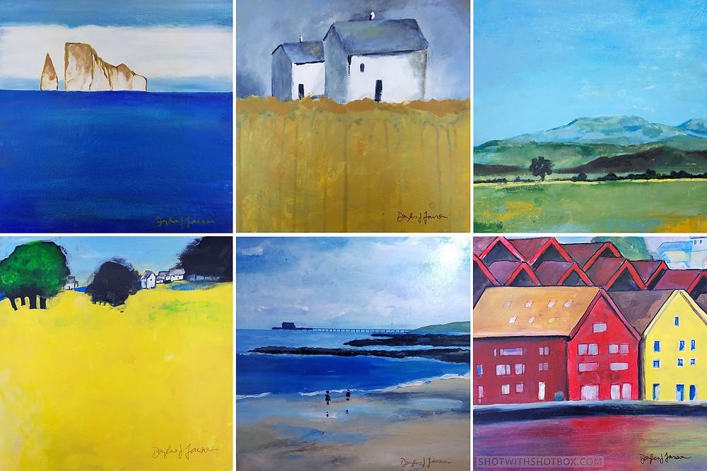 6 Paintings by Douglas J Larson