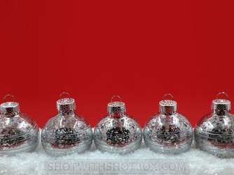 Silver Christmas Ornament Background/Wallpaper