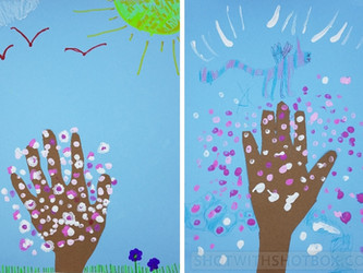 Kids' Spring Art Project