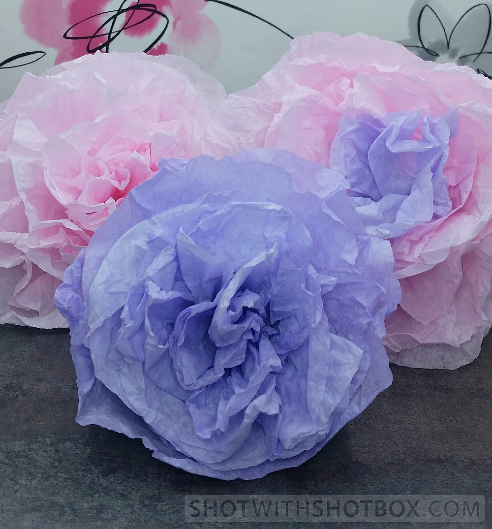 Pink and Lavender Paper Flowers
