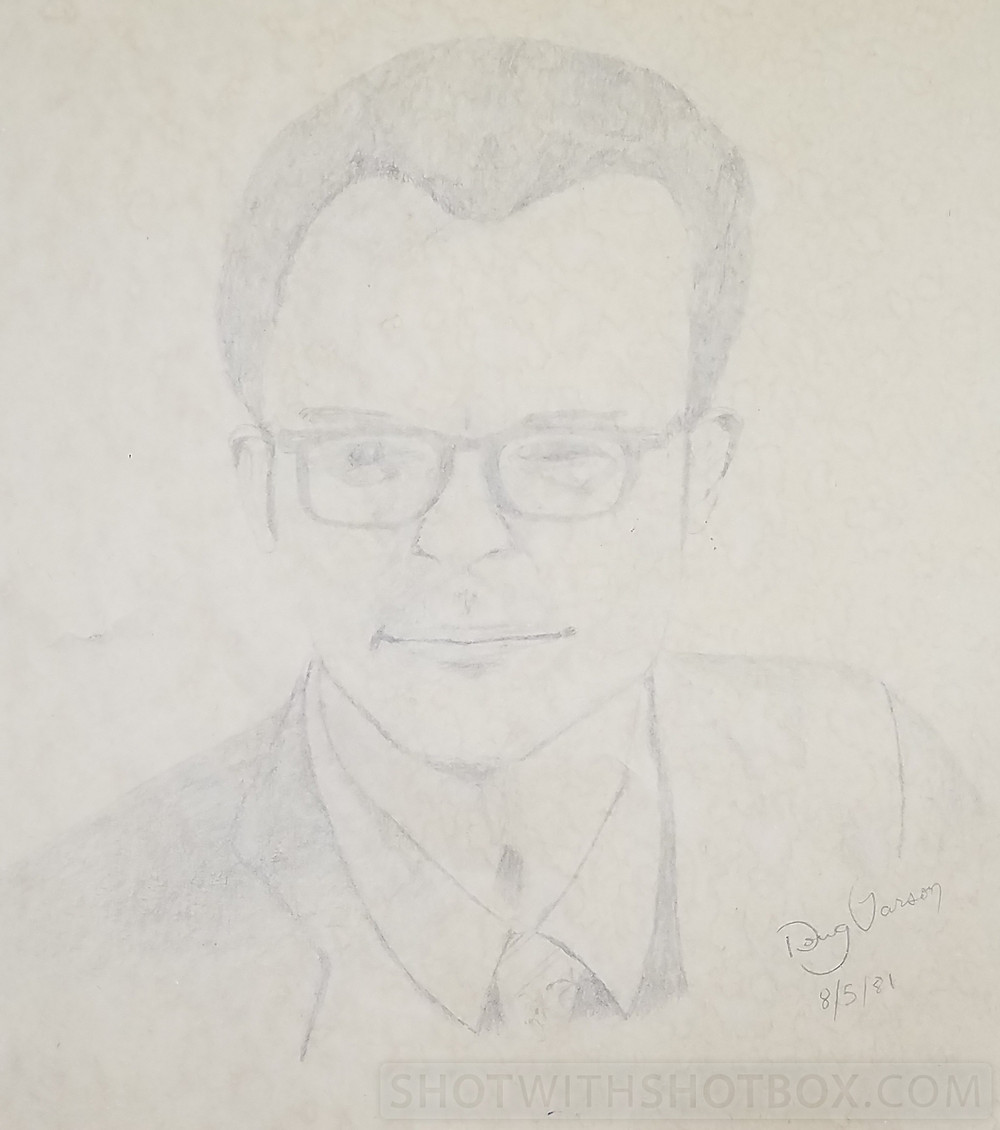 Pencil Portrait Close Up