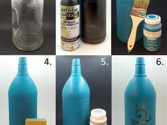 Chalk Painted Bottle
