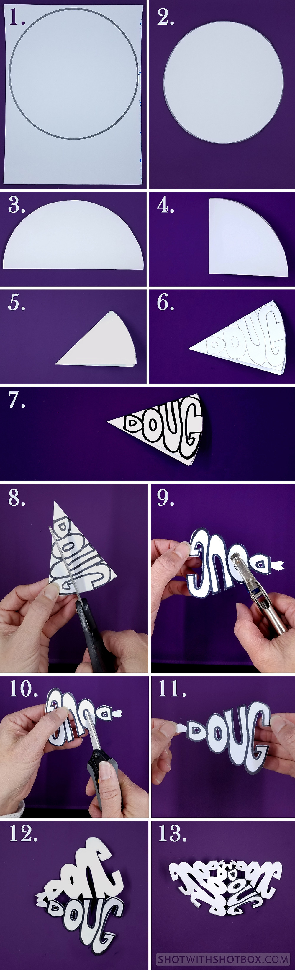 Name Snowflake Instructions