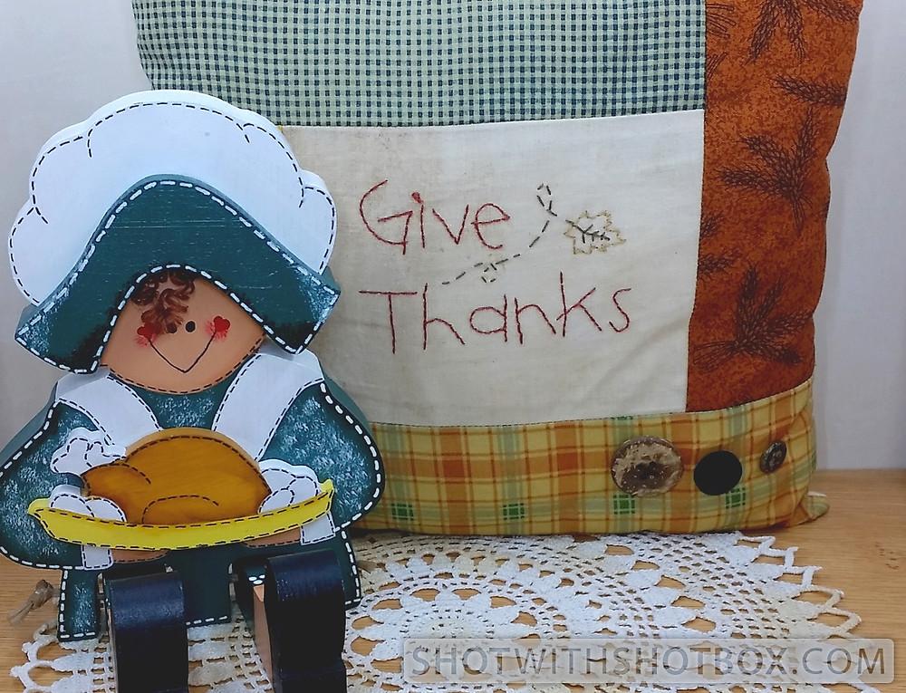 Give Thanks Pillow & Pilgrim