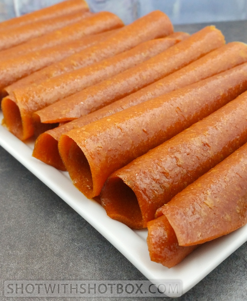 Apricot Plum Fruit Leather