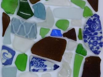 Photoshopped Sea Glass Collage