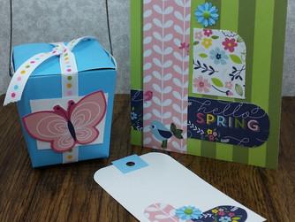 Hello Spring Card & Tag