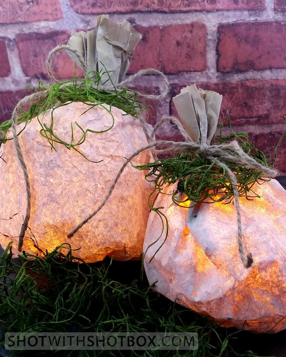 Paper Bag Pumpkin Luminaries