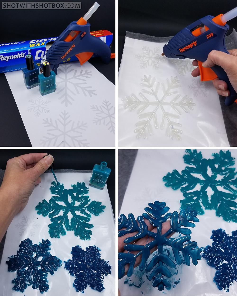Hot Glue Gun Snowflakes Instructions