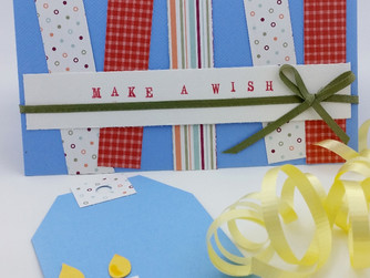 """Make A Wish"" Birthday Card and Tag"