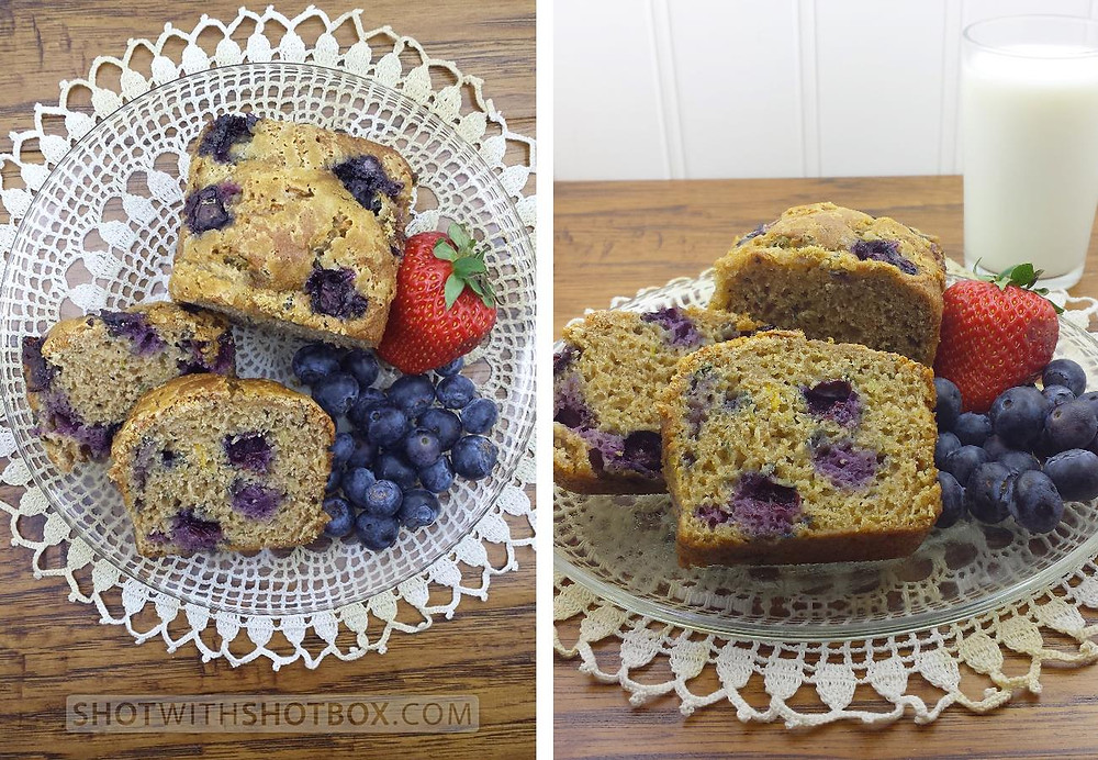 Plated Blueberry Zucchini Bread