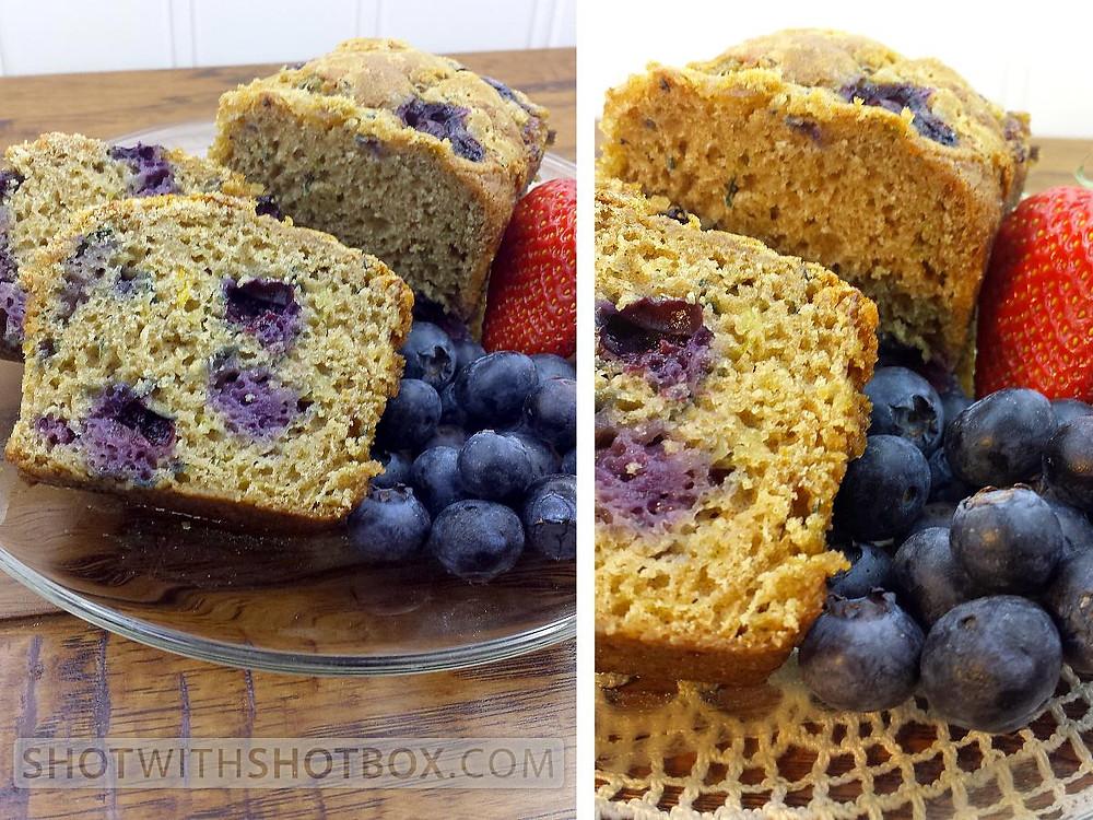 Close Ups of Blueberry Zucchini Bread