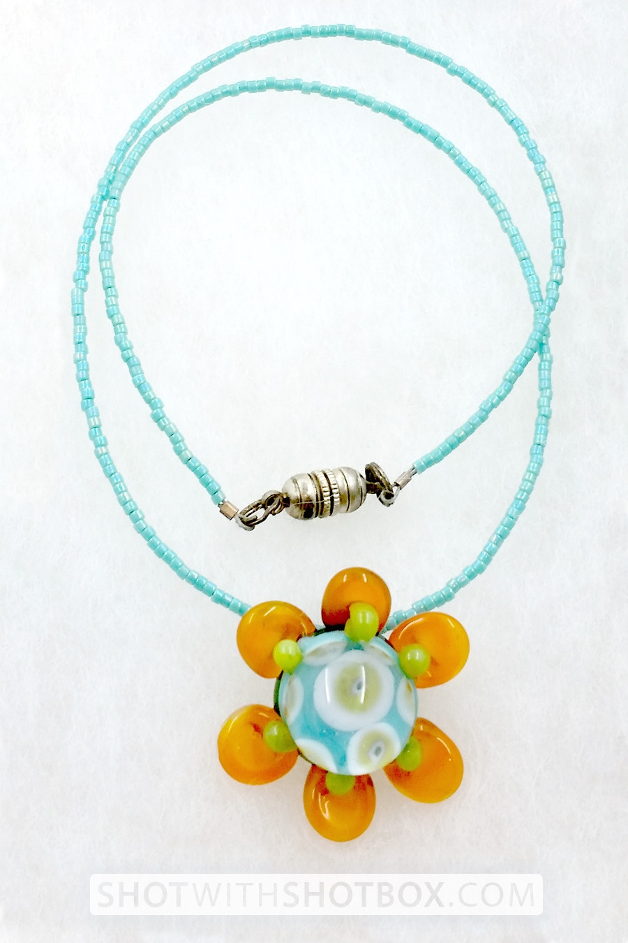 Unique Glass and Bead Necklace