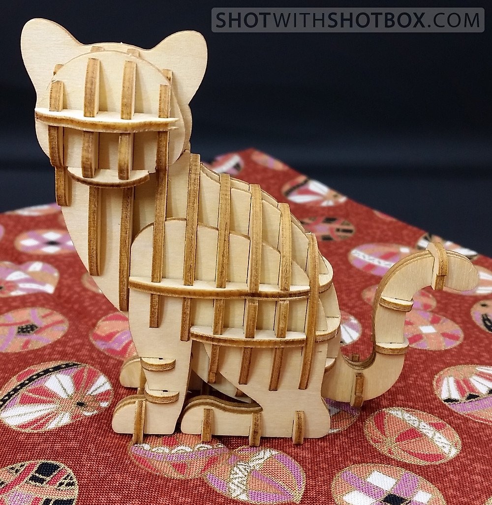 Finished Wooden Art Cat