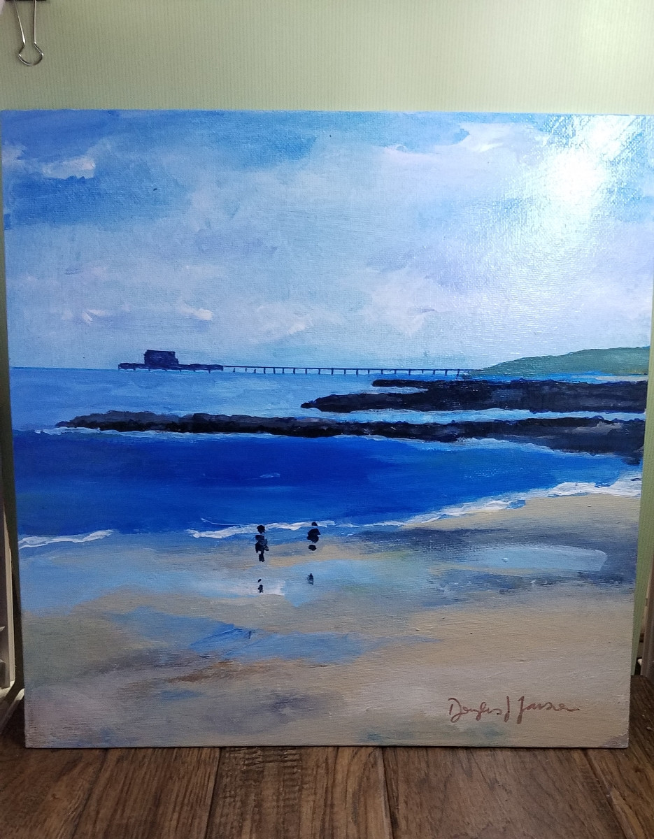 Front Shot of Beach Painting