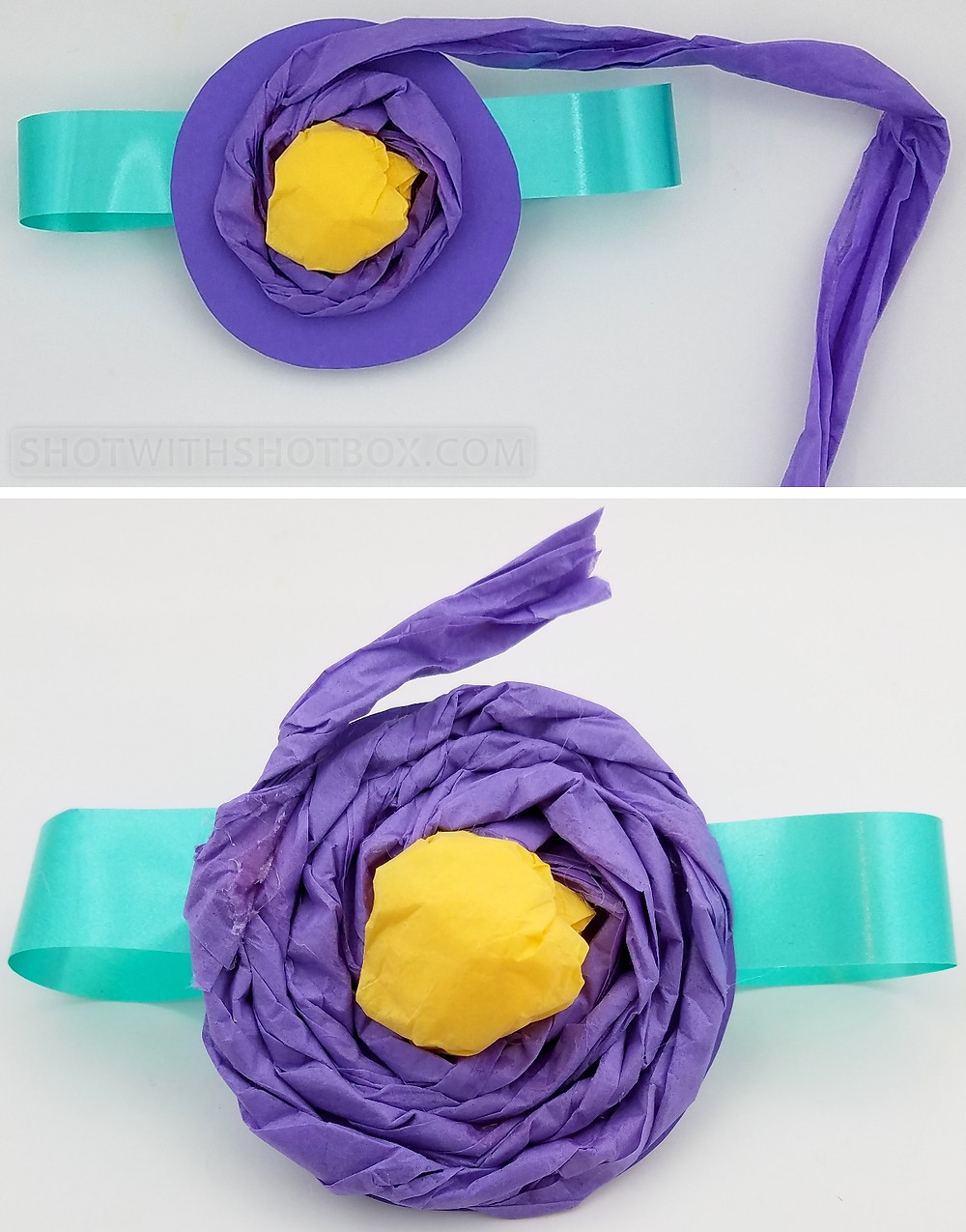 Tissue Paper Corsage Step 5