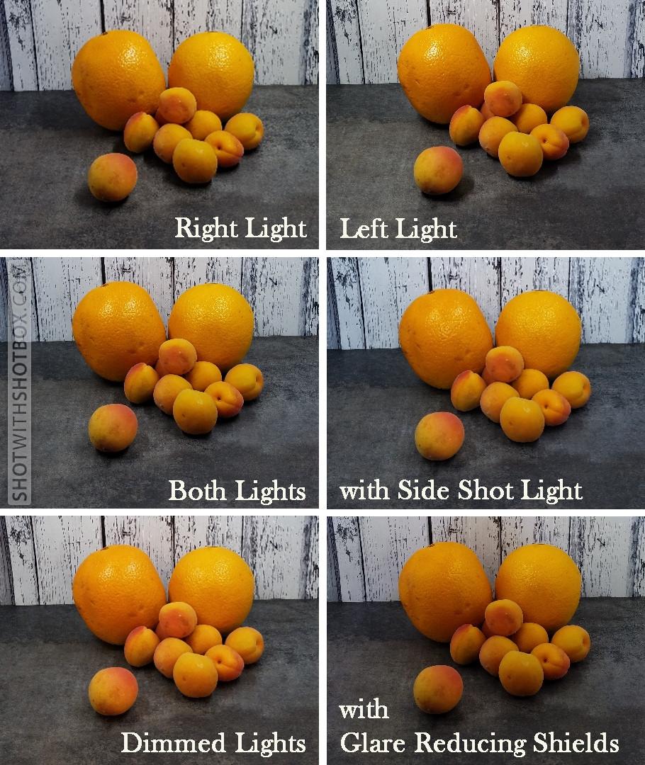 SHOTBOX Lighting Options