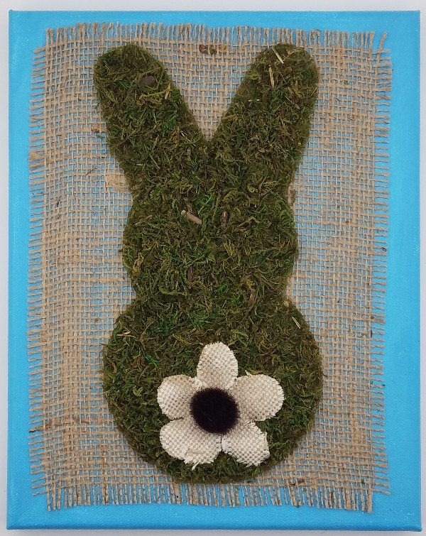 Mossy Easter Bunny Wall Art