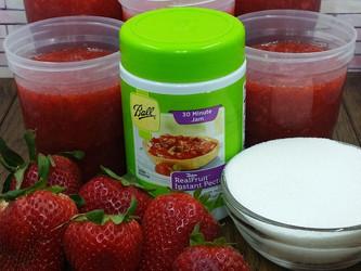 Strawberry Freezer Jam Blog Post