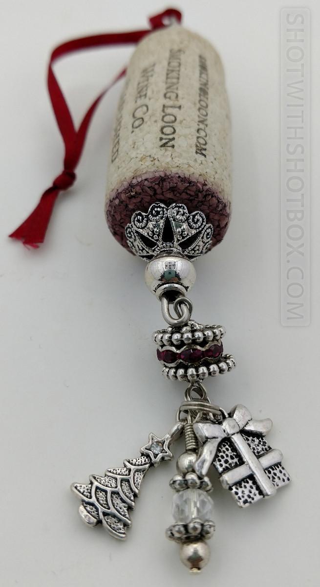 Closeup of Wine Cork Ornament