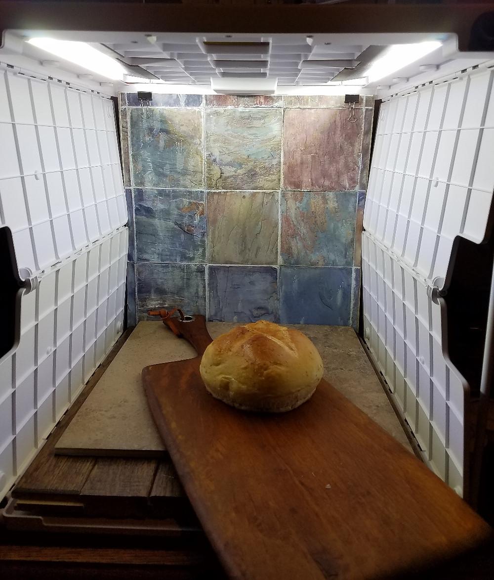 Rosemary Bread Photoshoot Setup