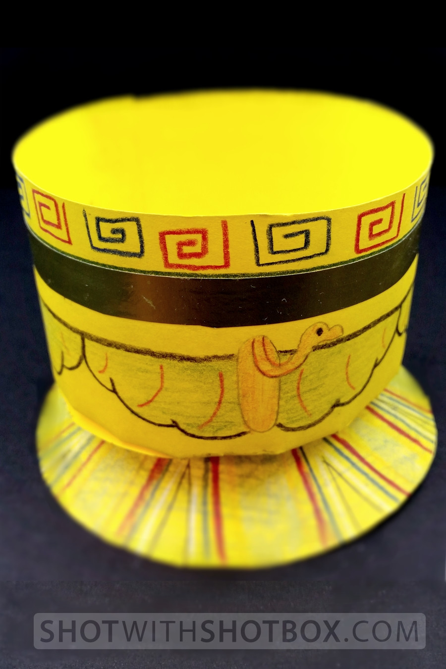 Bright yellow paper cup